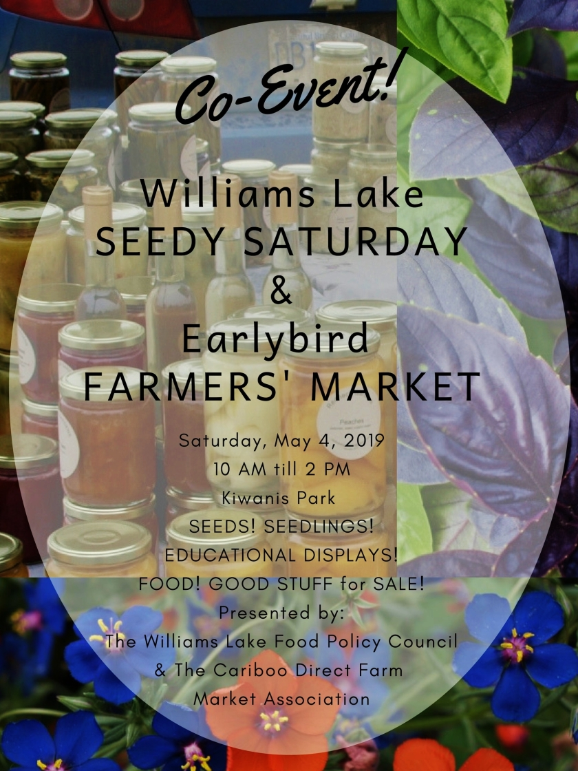 seedy saturday earlybird farmers market poster 1 cdfma 2019