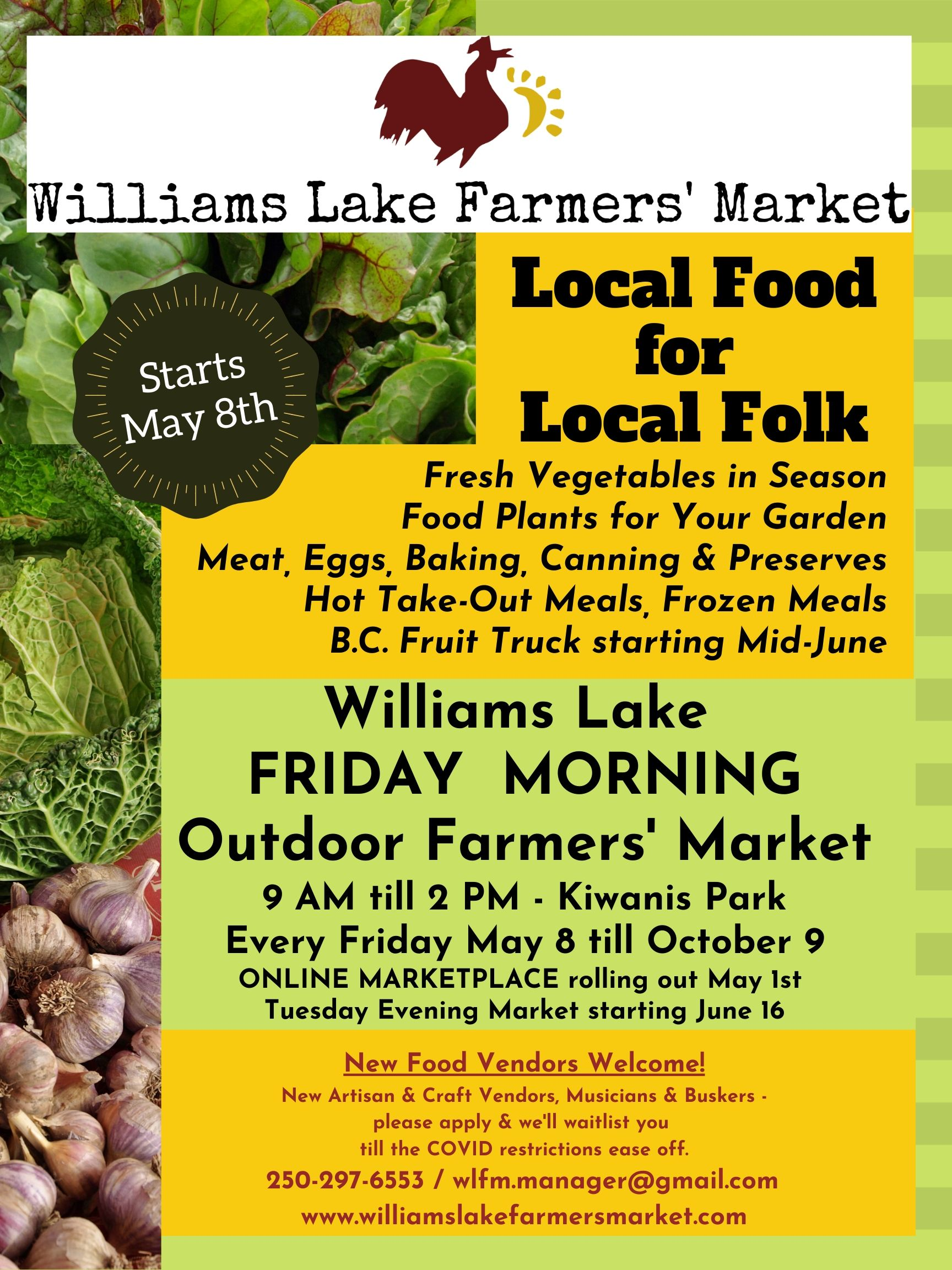 Copy of 2020 Williams Lake Farmers Market CDFMA poster 1